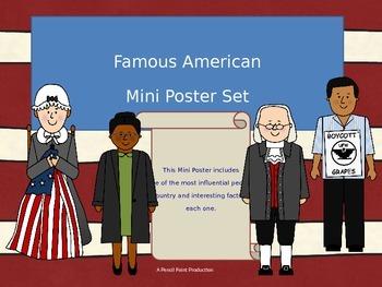 Famous American Mini Poster Set