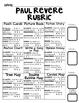 Choice Board: Paul Revere - Board,  Rubric & Graphic Organizers