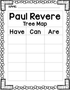 Choice Board: Paul Revere - Board,  Rubric & Graphic Organizers
