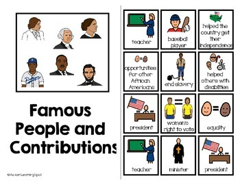 Famous American People Contributions