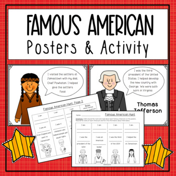 Famous American Poster Set {SOL 1.2 & 1.3}