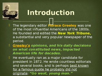Political Movements & Events - Key Figures - Horace Greeley