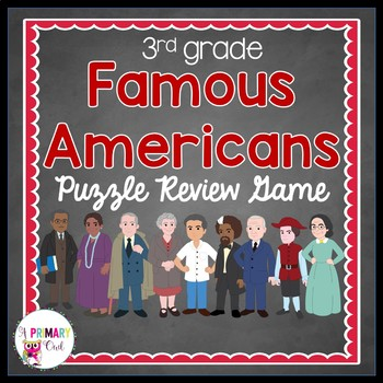 Famous American Puzzle Review Game
