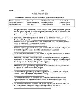 Famous American Quiz