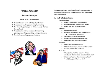 Famous American Research Paper