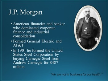Famous American Robber Barons PowerPoint Slideshow