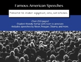 Famous American Speeches Formatted for Annotation and Note-Taking