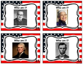 Famous American Task Cards