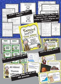 Thomas Jefferson: Famous American Mini Unit {PowerPoint & Printables}