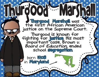 Thurgood Marshall: Famous American Mini Unit {PowerPoint & Printables}