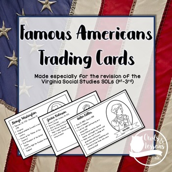 Famous American Trading Cards