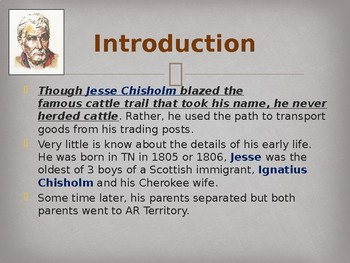 Famous American Trailblazer - Jesse Chisholm