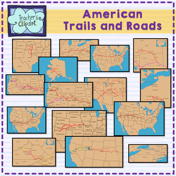 Famous American Trails, Roads and Routes {Route 66, Oregon Trail and many more}