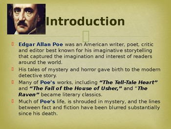 Famous American Writers - Edgar Allan Poe