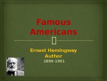 Famous American Writers - Ernest Hemingway
