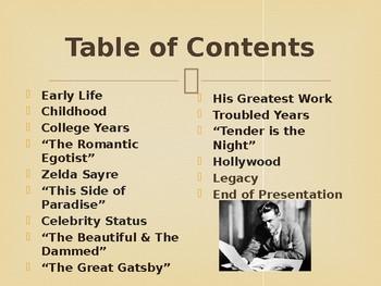 Famous American Writers - F Scott Fitzgerald