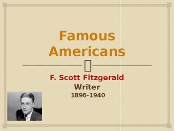 Famous Americans - F. Scott Fitzgerald