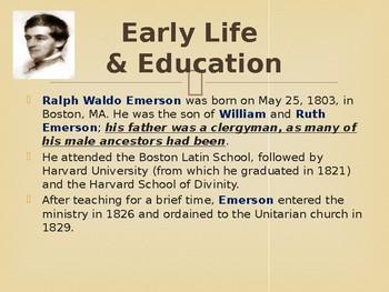 Famous American Writers - Ralph Waldo Emerson