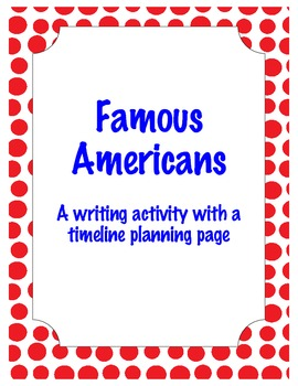 Famous American Writing Activity and Organizer aligned to