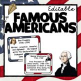 Famous Americans Editable