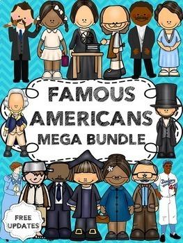 Famous Americans Bundle (including Ben Franklin, George Washington and more)