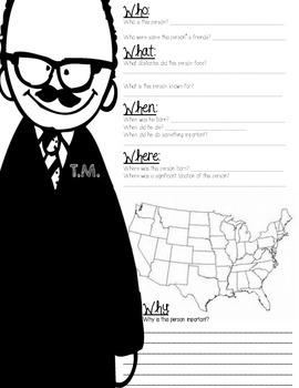 Famous Americans 5 Ws Questions {BUNDLE}