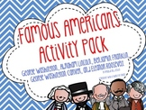 Famous Americans Activity Pack