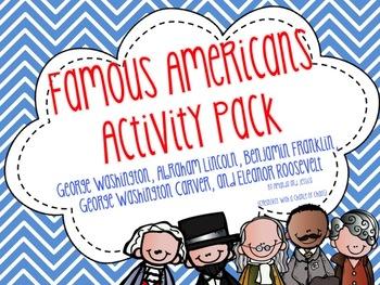Famous Americans Activity Pack