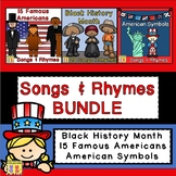 Black History Month, Famous Americans, and American Symbols BUNDLE