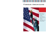 Famous Americans Booklet -VA SOL Based