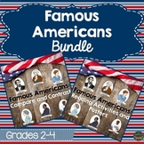 Famous Americans Bundle: Reading Comprehension, Compare and Contrast and Posters