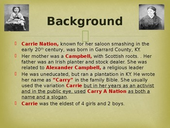 Famous Americans - Carrie A Nation