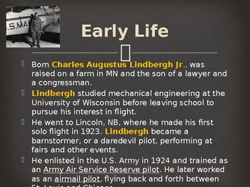 Famous Americans - Charles Lindbergh