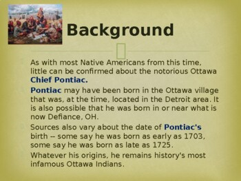 Famous Native American Chief - Pontiac