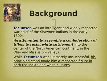 Famous Americans - Chief Tecumseh