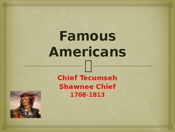 Famous Native American Chief - Tecumseh
