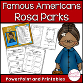 ROSA PARKS Civil Rights Leader PowerPoint and Activities (Black History Month)
