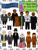 Famous Americans Clip Art {By Busy Bee Clip Art}