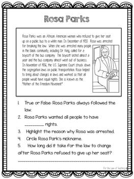 Famous Americans Close Reading Passages