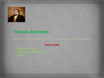 Famous American Fighters - Davy Crockett