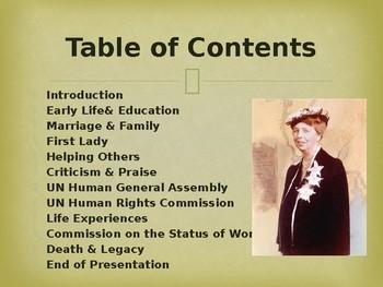 Famous Americans - Eleanor Roosevelt