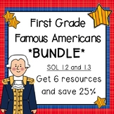 Famous Americans First Grade BUNDLE
