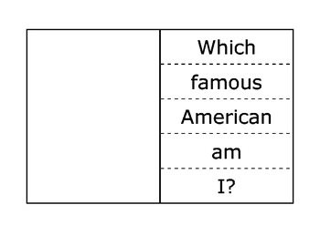 Famous Americans Flap Books for Interactive Notebooks