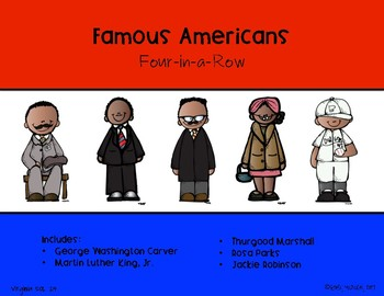 Famous Americans Four-in-a-Row (African Americans)