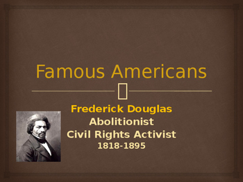 Political Movements & Events - Key Figures - Frederick Douglas