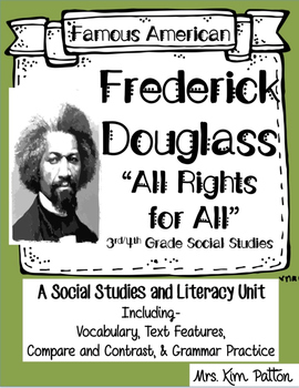 Famous Americans: Frederick Douglass Activities & Interactive Notebook