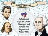 Famous Americans: George Washington, Abraham Lincoln, Benj