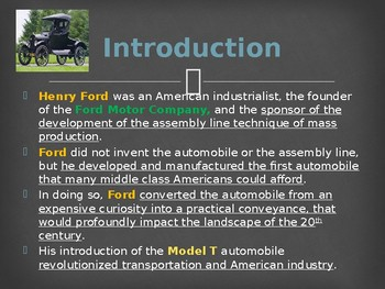 Famous Americans - Henry Ford