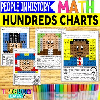 Famous Americans Hundreds Charts l SOCIAL STUDIES l MATH CENTERS