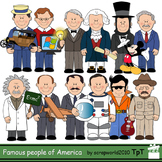 Famous Americans clipart